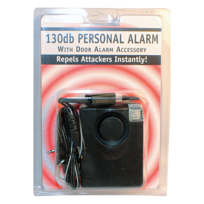 3-In-1 130 dB Personal Alarm With Light